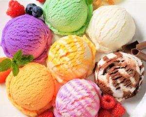 различные вкусы мороженного
